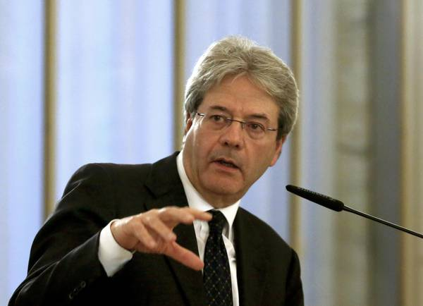 """Gentiloni. In Libia """"l'Italia farà la sua parte"""""""