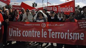 Marcia Tunisi: già migliaia a piazza Bab Saadoun