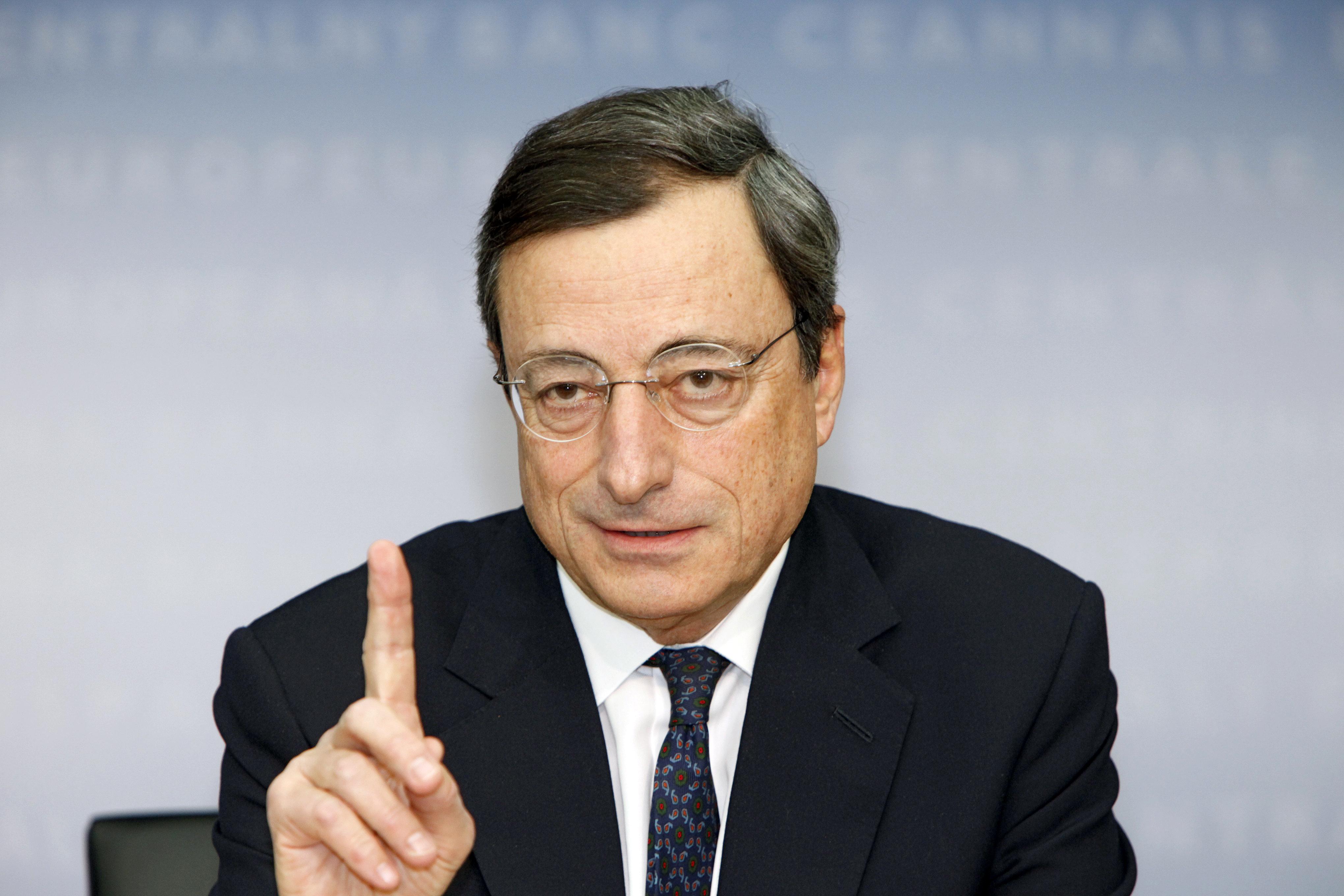 """Draghi garantisce: """"Il Qe funziona"""""""