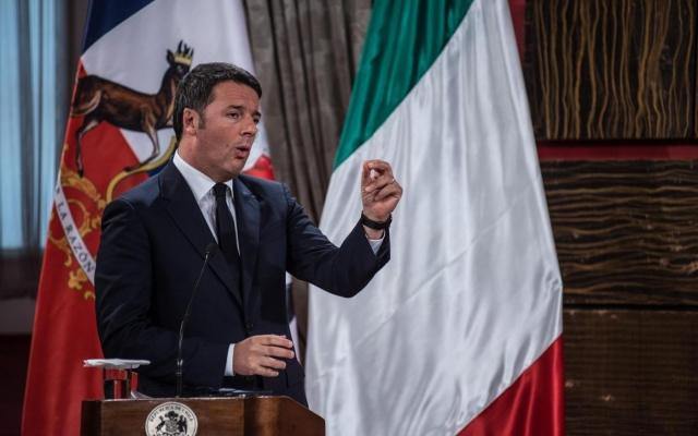 Renzi parla ai vertici di Enel Green Power in Cile