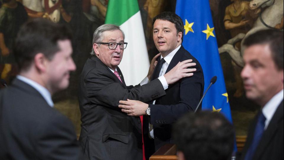 Juncker a Roma per incontrare Renzi