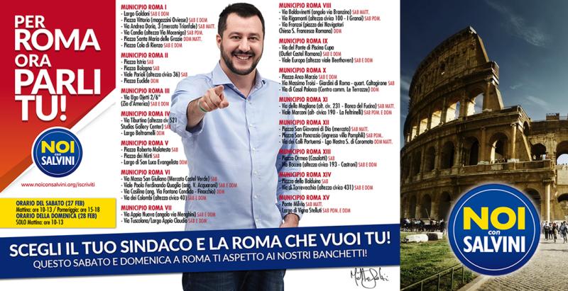 """A Roma, ieri e oggi, """"primarie"""" della Lega"""