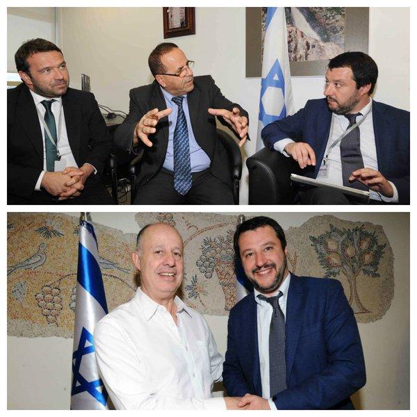 """Salvini in Israele a lezione di """"sicurezza"""""""