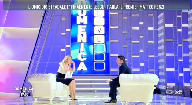 Domenica intervista a Matteo Renzi