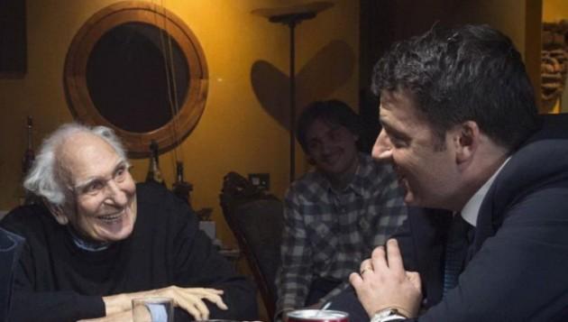 Renzi, Giachetti e Berlusconi da Pannella