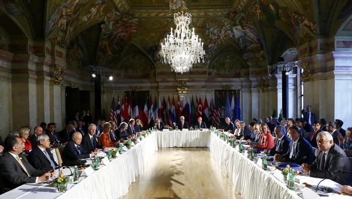 Vertice di Vienna. Al centro Libia e Siria