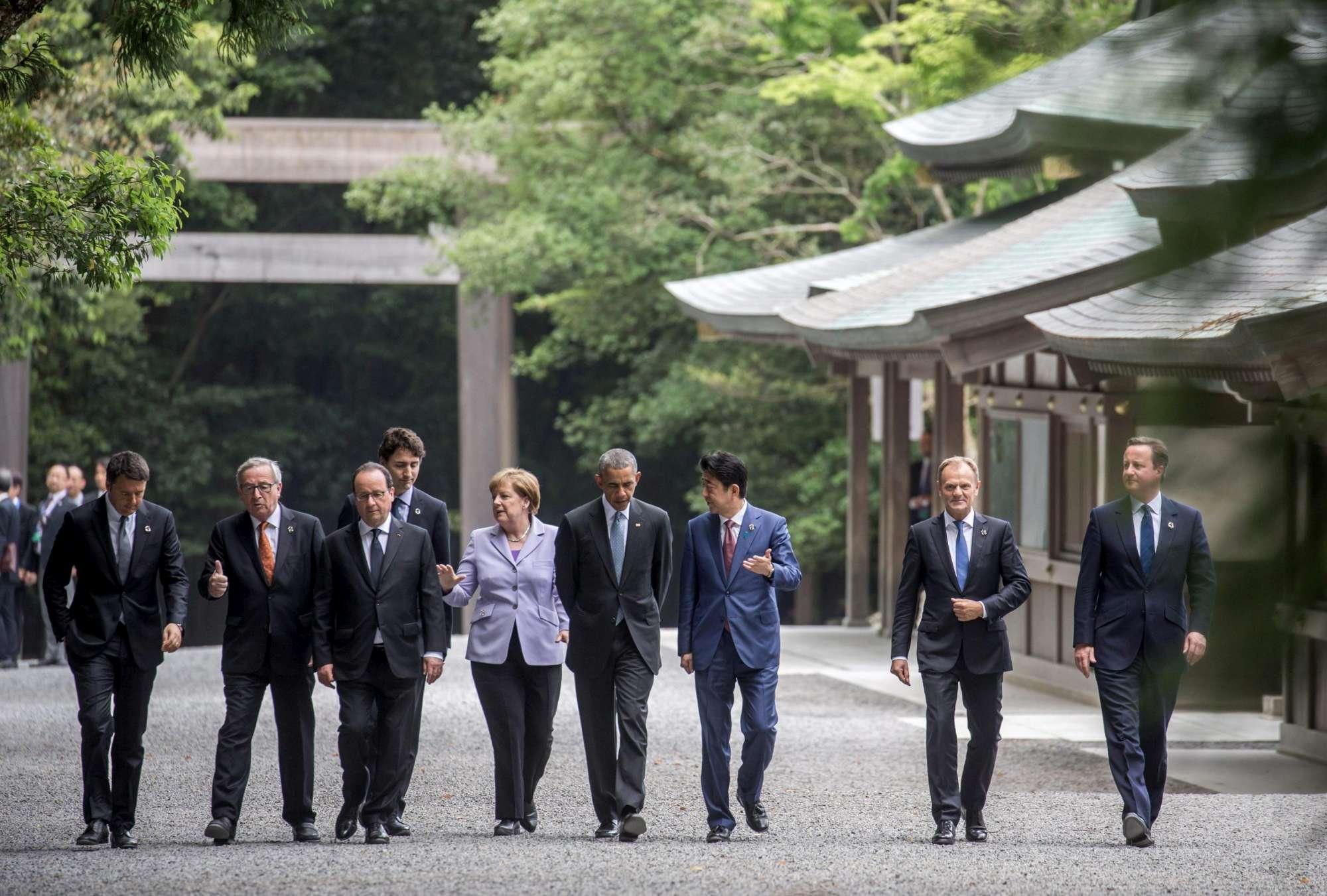 Renzi al G7 in Giappone